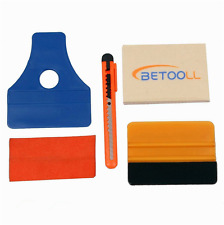 BETOOLL HW9001 4Pcs Car Window Tint Tools Kit for Auto Film Tinting Scraper Set