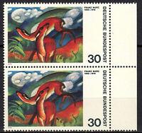 798 postfrisch Paar senkrecht Rand rechts BRD Bund Deutschland Jahrgang 1974