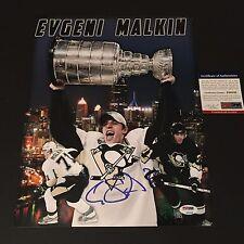 Evgeni Malkin Penguins Stanley Cup Champions Signed Auto 11x14 PHOTO PSA/DNA COA