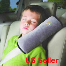 Car Seat Belt Pad Strap Child Kids Safety Shoulder Sleep Pillow Cushion Gray
