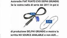 """Kit cavo Aux MP3 iPod Punto EVO 150 """"NO SOURCE AVAILABLE"""" Grundig Delphi da 1,4M"""