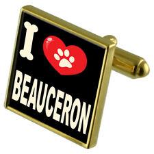 I Love My Dog Gold-Tone Cufflinks & Money Clip - Beauceron