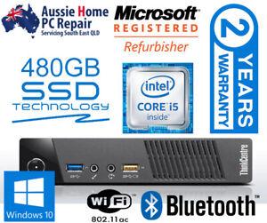 LENOVO 'NUC' TINY PC. UPGRADED I5 CPU, HUGE 480GB SSD. DUAL DISPLAY. WIN 10 PRO.