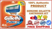 100% AUTHENTIC GENUINE GILLETTE FUSION Razor Cartridges 4 Blades (USA)