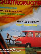 Quattroruote 239 1975 La Mini della Ford. Prove Fiat 128 3 porte. Kadett [Q95]