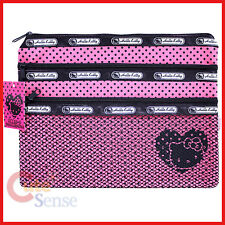 Sanrio Hello Kitty Mesh Money Pouch Wallet -Pink 3 zip