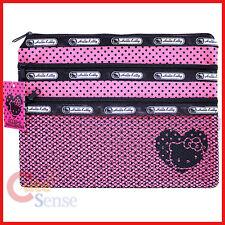 Sanrio Hello Kitty Mesh Money Pouch Wallet -Pink 3 zip