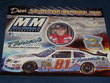 2012 JASON BOWLES #81 THRUSH & SON HOME IMPROVEMENT NASCAR POSTCARD