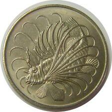 elf Singapore 50 Cents 1969  Lionfish  Fish