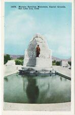 Antique POSTCARD Mormon Battalion Monument SLC, UTAH UT