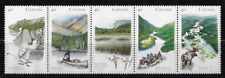 Canada Stamps — 1991 Wilderness Heritage Rivers #1325a (Strip of 5 #1321-25) MNH