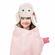 Lamb Sheep Hooded Throw Blanket Bath Wrap Beach Towel Nap Time 27x52 NWT