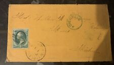 Usa Early Cover 1880 With 3 C Washington Stamps X 2  Covers