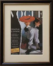 Vogue wall art -8''x10'', Framed Vogue cover, vintage Vogue Covers