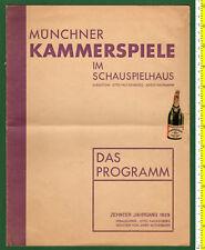 #36311 Munich 1929. Theater Program (MUNCHNER KAMMERSPIELE)