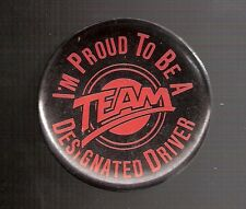 """Early 1990's San Francisco Giants """"Team Designated Driver"""" 2-Inch Pinback Button"""