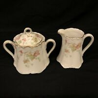Hutschenreuther Maple Leaf Bavaria Germany Creamer & Sugar