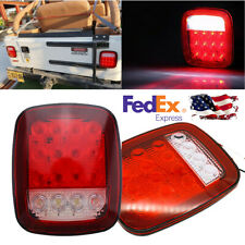 Trailer Light Kit LED Trailer Tail Light Red+White Running Lights Boat Trailer