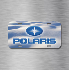 Polaris Snowmobile Snow Sled Winter Vehicle License Plate Front Auto Tag NEW