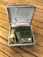 Vintage Craftsman Rechargeable Cordless Electric Shaver with Case Model 4099242