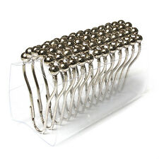 Set of 12 Shiny Roller Ball Chrome Bathroom Shower Curtain Rings Hooks