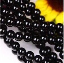 8mm Black Agate Onyx Gemstone Round Loose Bead 15inch