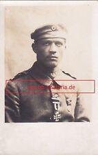 Fotopostkarte Landser mit Orden, u.a. EK2. Eisernes Kreuz 2. Klasse von 1914