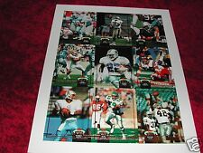 1992 NFL Press (UNCUT) Sheets Std Club & Sky Box Lg Sheet, 1992 National Limited