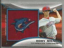 Hoby Milner Philadelphia 2014 Topps Pro Debut Manufactured Hat Logo