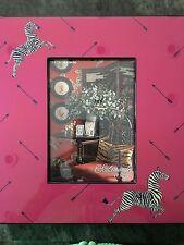 Scalamandre Lenox Zebra Stripe Arrows Lacquer 5x7 Picture Frame $80 Nib