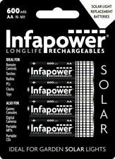 Infapower Rechargeable Garden Solar Light AA 1.2V 600mAh Ni-MH Battery - 4 Pack