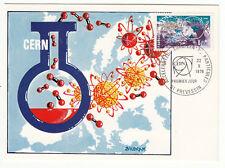 CARTE MAXIMUM FDC 1976 TIMBRE N° 1908 CERN ACCELERATEUR DE PARTICULES
