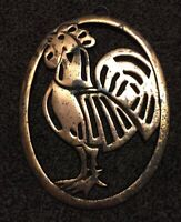 Vintage Iron Metal Wall Hanging Decor Plaque Rooster Copper Coating