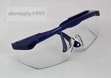 Dental Protective Eye Goggles Safety Anti-fog Glasses Blue Frame for Dentist