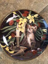 Royal Doulton Franklin Mint Candlelight Friend Kitten & Mother ltd Ed Plate