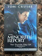 Minority Report (Dvd Full Screen, 2002) Tom Cruise, Very Good