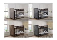 Chesterfield Childrens Bunk Bed 3ft Single Upholstered  in Linen Or Plush Velvet