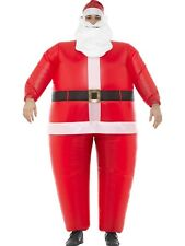 Inflatable Santa Clause Costume Huge Blow Up Christmas Fancy Dress