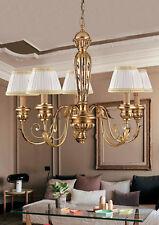 Lampadario classico in legno e ferro battuto foglia oro 5 luci pre Ls 144/5P
