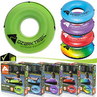 Ozark Trail River Run Adult Tube Float Pool Water Swim Raft Lounger w Grab Rope