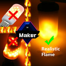 Creative 3 modes Gravity Sensor E27 E26 E14 LED Flame Effect Fire Light Bulb