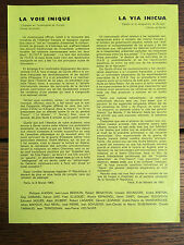 [SURREALISME] La Voie unique. Paris, le 8 février 1963.