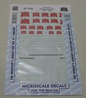 MICROSCALE DECALS HO SCALE 87-1133 Rock Island Steam Locomotives 1937- 1954