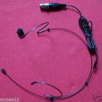 New Head worn Headset Mic for Shure Wireless Microphones Headworn System - Black