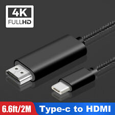 2M USB-C Type-C to HDMI HD TV Adapter Cable 4K Mirror Extend For Android Macbook
