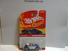 Hot Wheels Classics Series 2 #21 Blue VW Bug Convertible