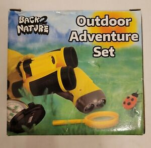 BACK2NATURE Outdoor ADVENTURE Set Children BINOCULARS COMPASS FLASHLIGHT MAGNIFY