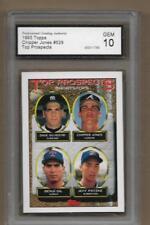 1993 Topps #529 Chipper Jones Rookie Card Atlanta Braves HOF PGA 10 GEM MINT