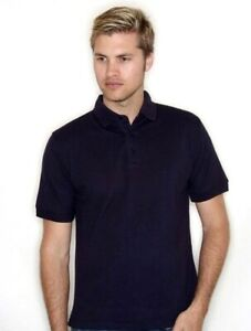 XL Polo Shirt Collared T-Shirt NAVY 65/35 Classic Pique H400 Unisex brand new