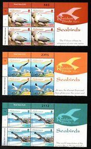 Alderney Stamps 2006 SG A282-A287 Resident Birds (Series 1) Blocks of 4 Mint MNH